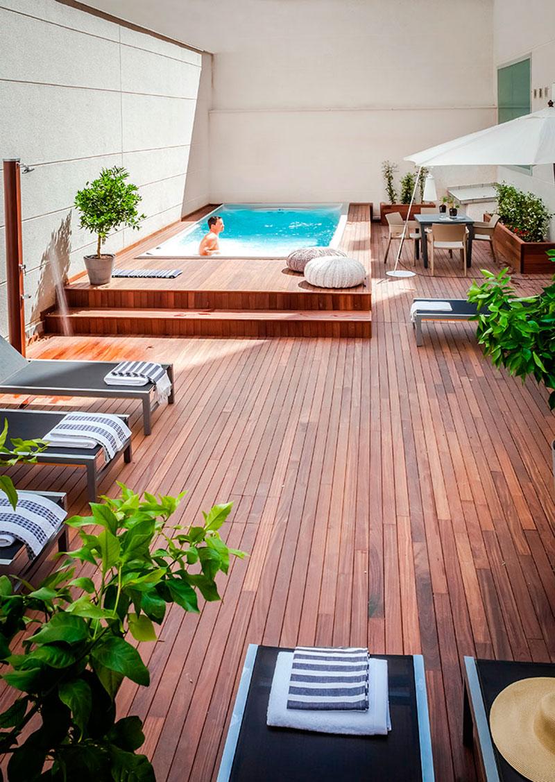 Urban terraces luxury apartments in madrid for Terrazas con alberca