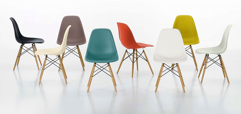 Design Icons Plastic Chair by Charles amp Ray Eames Eric  : PLASTIC CHAIR CHARLES EAMES COLORS3 from www.ericvokel.com size 800 x 379 jpeg 126kB