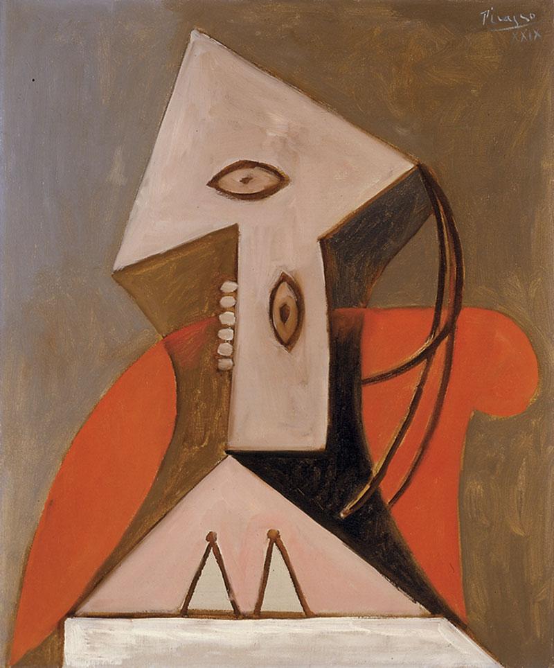 Museu-Picasso-Dona-en-una-butaca-vermella